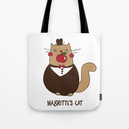 Magritte's cat Tote Bag