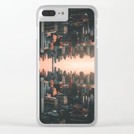 New York City Skyline Surreal Clear iPhone Case