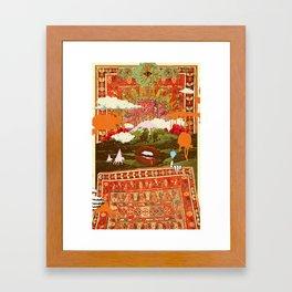 MORNING PSYCHEDELIA Framed Art Print