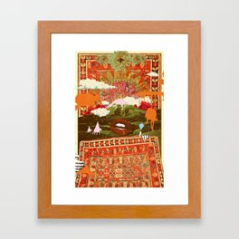 MORNING PSYCHEDELIA Framed Art Print