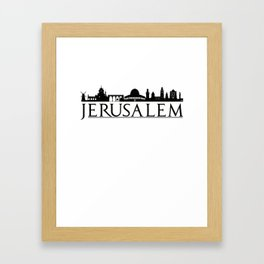 Jerusalem Israel Middle East Love Travel Framed Art Print