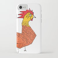 rooster iPhone & iPod Cases featuring rooster by Matt Edward
