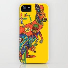 Kangaroo, cool wall art for kids and adults alike iPhone Case