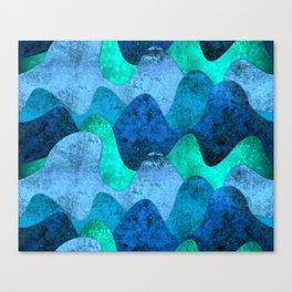 Grunge Sea waves Canvas Print