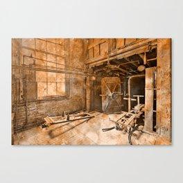 Vintage Acrylic Silk Mill Canvas Print