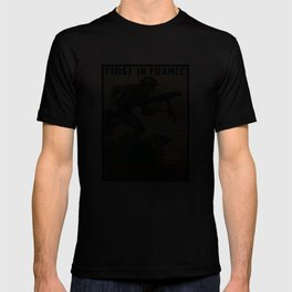 US Marines -- First In France T-shirt