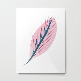 Evolving Prayer Leaf Minimalist Botanical Abstract Art Metal Print