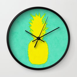 Spring Pineapple Wall Clock