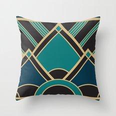 Art Deco New Tomorrow In Turquoise Throw Pillow