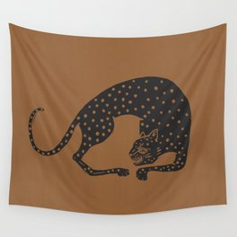 Blockprint Cheetah Wall Tapestry