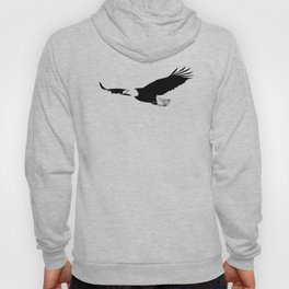 Silhouette of flying eagle Hoody