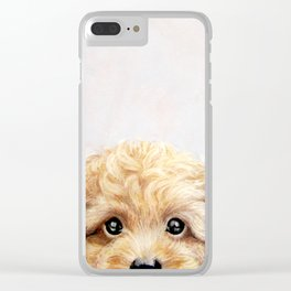 Toy poodle Dog illustration original painting print Clear iPhone Case