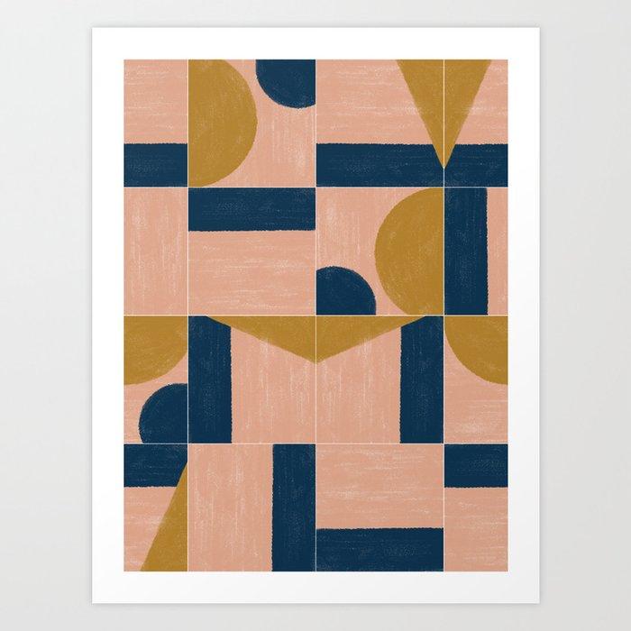 Painted Wall Tiles 01 #society6 #pattern Art Print