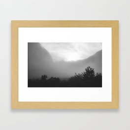 //02-07 MORNING FOG Framed Art Print