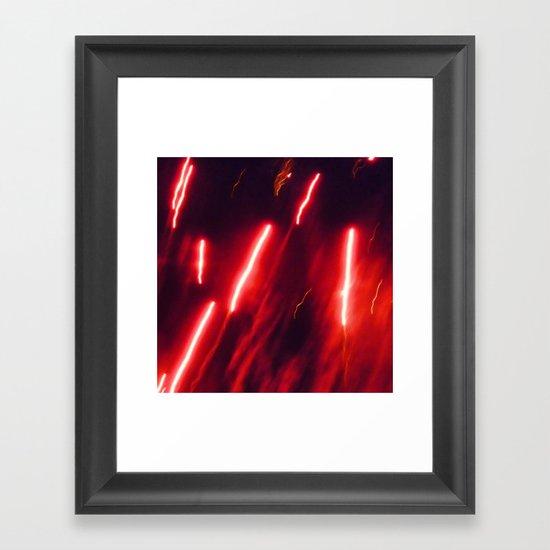 Crimson rockets Framed Art Print