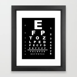 Inverted Eye Test Chart Framed Art Print