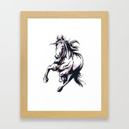 Wild Stallion Horse Framed Art Print