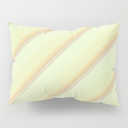 Spring Green Inclined Stripes Pillow Sham