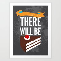 glados Art Prints featuring ...and then, there will be cake. by Created by Kristin