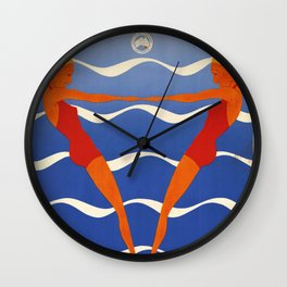 Seaside Holidays! - Vintage Poster Wall Clock