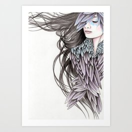 Raven Wings Art Print