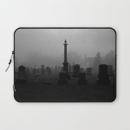 Cemetery (Black and White) Laptop Sleeve