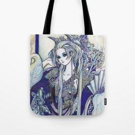 Madame Blue Tote Bag