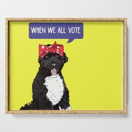 Political Pups - When We All Vote Serving Tray