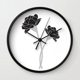 Flower Stems Wall Clock