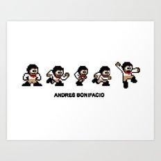 8-bit Andres 5 pose v1 Art Print