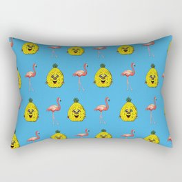 pineapple flamingo Rectangular Pillow