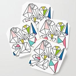 Shine Bright | Colorful Geo Gems Coaster