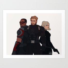Team Cap Art Print
