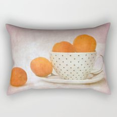 a cup full of apricots Rectangular Pillow