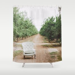 Chair in the Orchard Shower Curtain