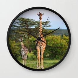 Giraffe Widlife Photography #society6 #home #decor Wall Clock