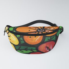 Whimsical Impatien Flowers Fanny Pack