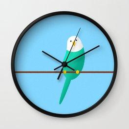 Budgie friend Wall Clock