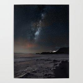 milky way Galaxy beach Poster