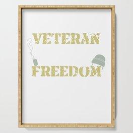 Veteran - Defender Of Freedom For Military Veterans Serving Tray