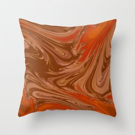 Neutrals Abstract Throw Pillow