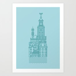 Stockholm (Cities series) Art Print