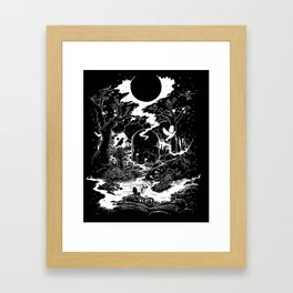 XIII - Death Card (Shadow Light Tarot) Framed Art Print