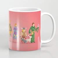 dungeons and dragons Mugs featuring Dungeons and Dragons - Pixel Nostalgia by Boo! Studio