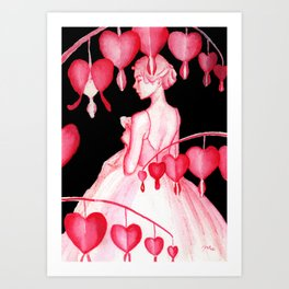 Bleeding Hearts Flowers Art Print