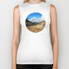 Life Is A Journey (Colour)  Biker Tank