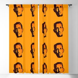 EDWARD SNOWDEN - orange Blackout Curtain