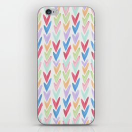 Modern hand painted colorful watercolor abstract chevron iPhone Skin