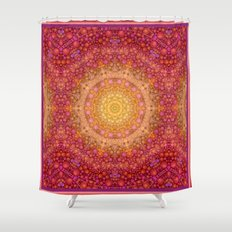 Love Will Find A Way -- Kaleidescope Mandala in the colors of Love Shower Curtain