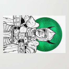 Clovis, the Undead Warrior Queen of Green Falls Tomb Rug